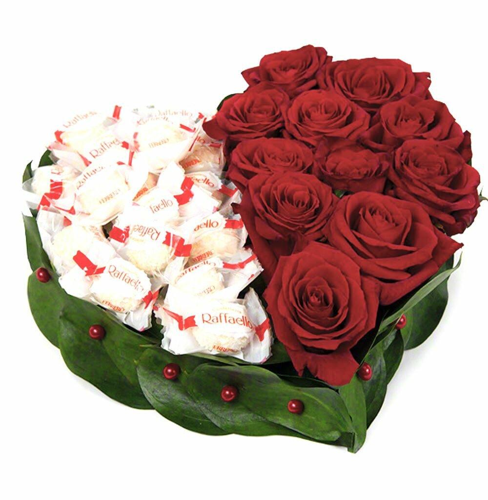 Цветы букеты подарки, розы
